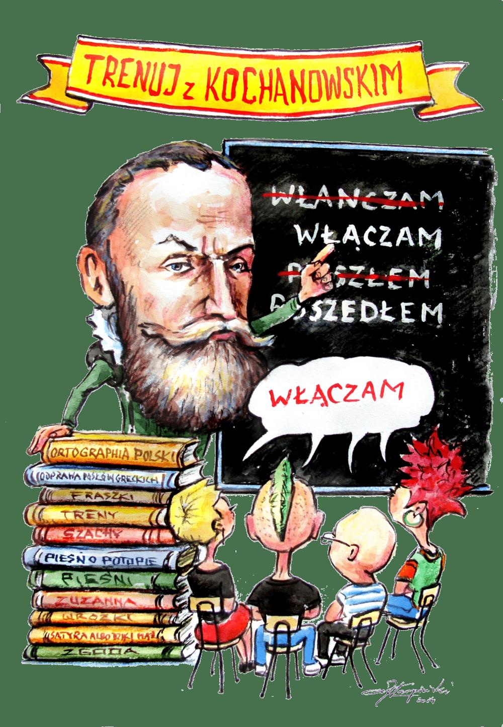 patron szkoły Jan Kochanowski