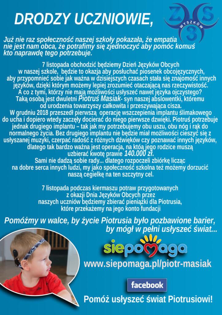 Dzień języków obcych - Pomóż usłyszeć świat Piotrusiowi