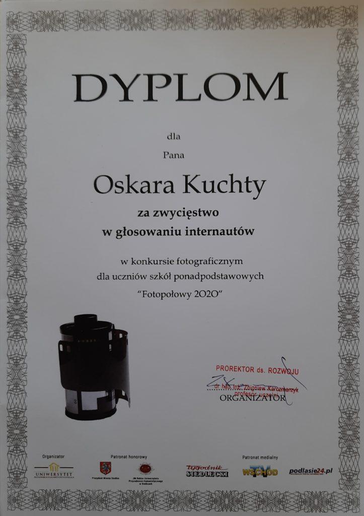 """Oskar Kuchta zwycięzcą konkursu """"Migawki miejskie"""""""