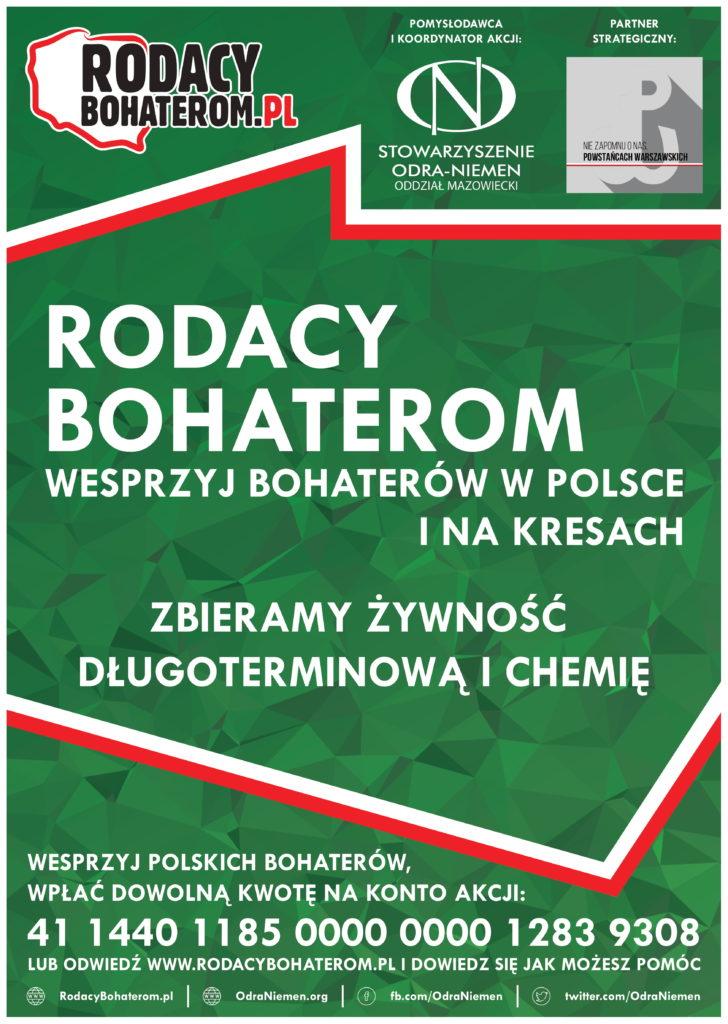 Uwaga! Zbiórka żywności dla Polaków zamieszkujących Kresy Wschodnie oraz Weteranów Armii Krajowej.