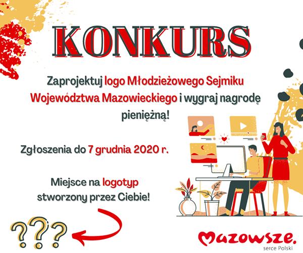 KONKURS na logo Młodzieżowego Sejmiku Województwa Mazowieckiego